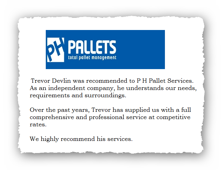 This is an image of a commercial testimonial from PH Pallets for Abate Pest Control Services.